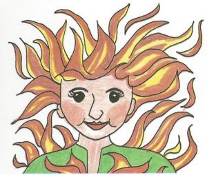 Feuer und Flamme sein - German proverb (for English translation and more idioms see link)
