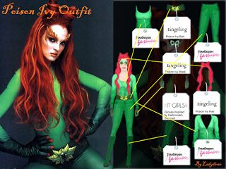 Ladydivers Guide to Stardoll.com: How-To Costumes: Poison Ivy, Batman (Uma Thurman)