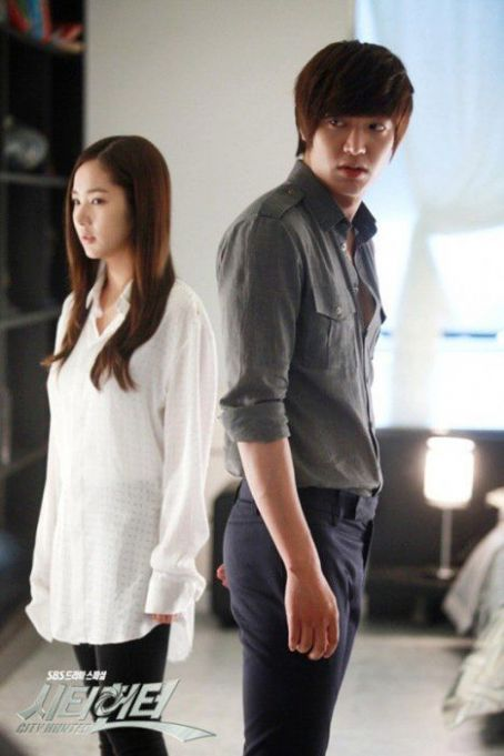 park min young and lee min ho in city hunter