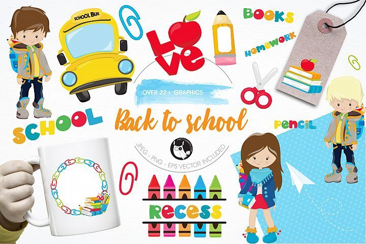 Back to school graphics and illustrations