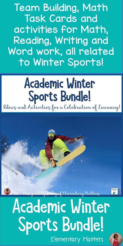 Academic Olympic Winter Sports Bundle Pinterest Winter Games
