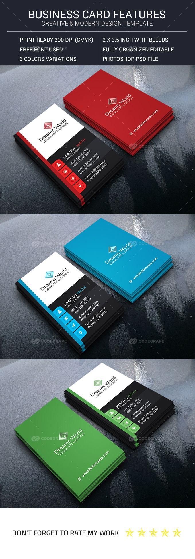 Vertical Creative Business Card Business Cards Creative Free Business Card Design Business Card Design