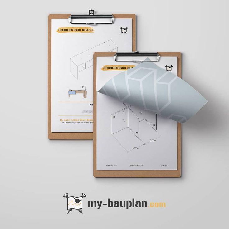 Der Fertige Bauplan Fur Den Schreibtisch Krakel Mit Zwei Fachern Nimm Ihn Unt Home Decor Decor Storage