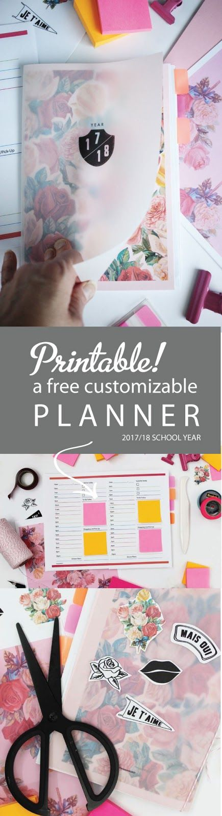Get organized for back-to-school with a free printable and customizable planner complete with a 12 month planner, daily sheets, brainstorming sheets and more with @PostitCanada  DIY   An Awesome Printable Planner   Poppytalk