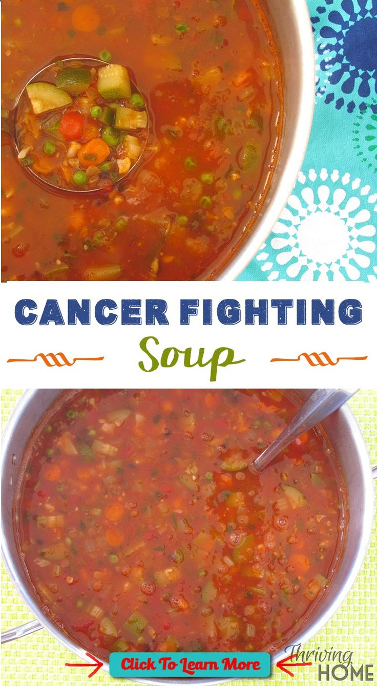 #FastestWayToLoseWeight by EATING, Click to learn more, This Cancer Fighting Soup is chock full of inflammation fighting vegetables and beans that promote healing and provide warmth to the soul. Make it for your own family or someone who needs extra nutrition while fighting illness. , #HealthyRecipes, #FitnessRecipes, #BurnFatRecipes, #WeightLossRecipes, #WeightLossDiets