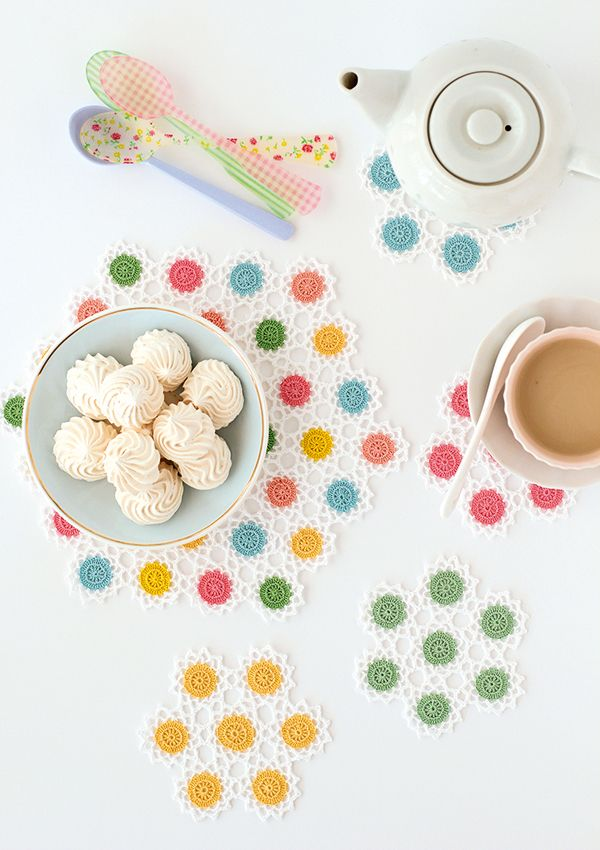 How to make crochet coasters   Crochet flowers pattern   Mollie Makes