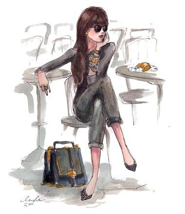 {Mixing Business with Pleasure: Chatting on the Phone at a Parisian Café}