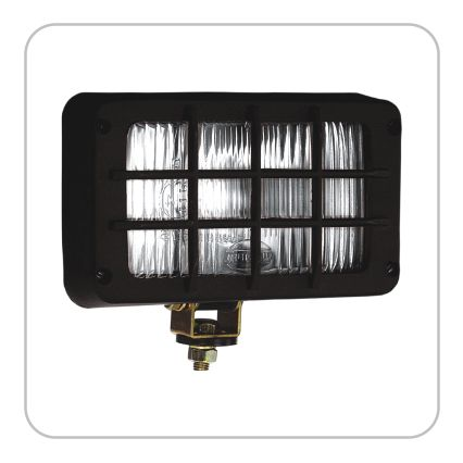 DRIVING / TRAPEZOID LAMP WITH GRILL