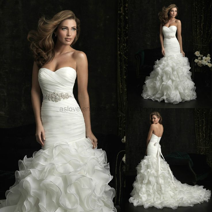 Mermaid Wedding Gown Organz Sweetheart Mermaid Wedding Dress Wedding