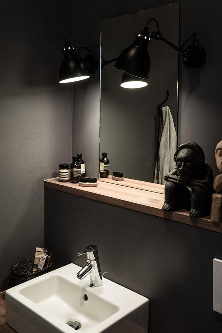 Lampe La Grass Badezimmer Dekor Spiegel Holz Romantisches Bad