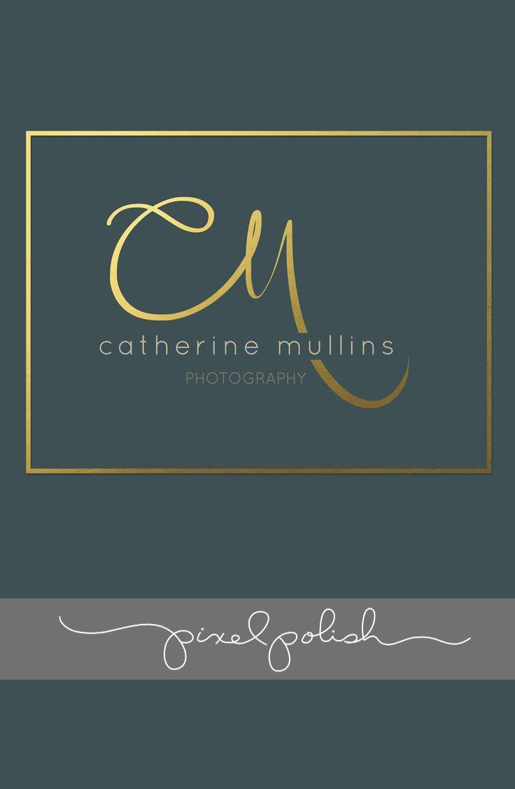 Handwritten initials.  Gold foil. Custom Logo using your initials.