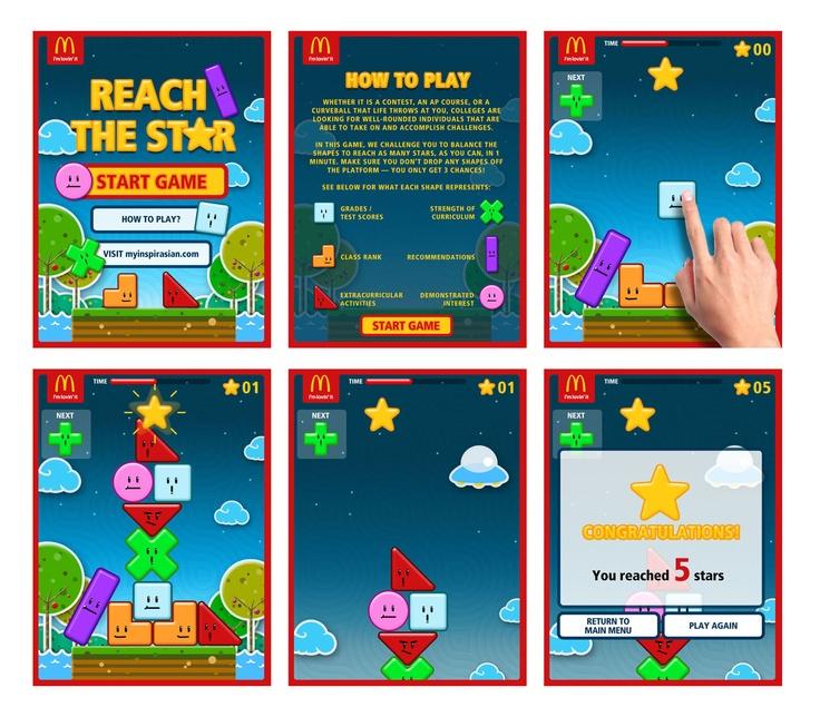 McDonald's Education Workshop iPad Game Concept Layout