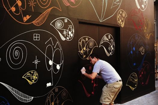 Luxury jewelery brand asks four creative talents to interpret the meaning of love in mural form.