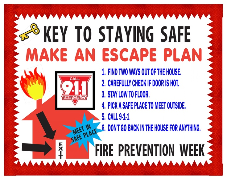 17 best images about fire safety week on pinterest bingo for House fire safety plan