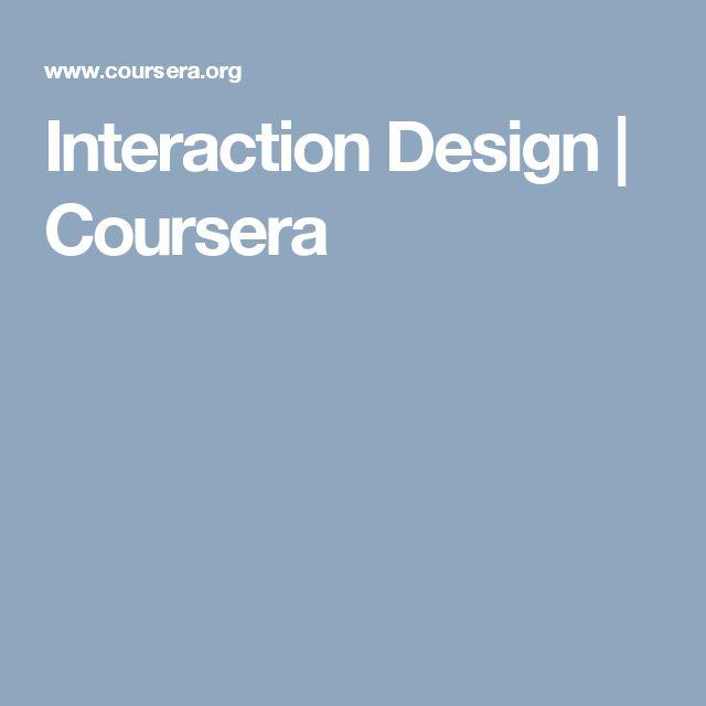 Interaction Design | Coursera