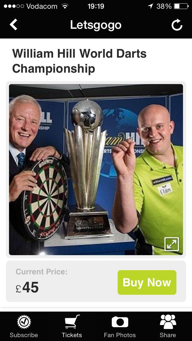 tickets darts wm 2019