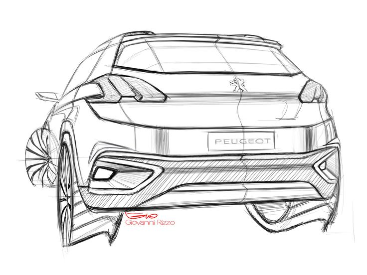 Peugeot Urban Crossover Concept - Design Sketch