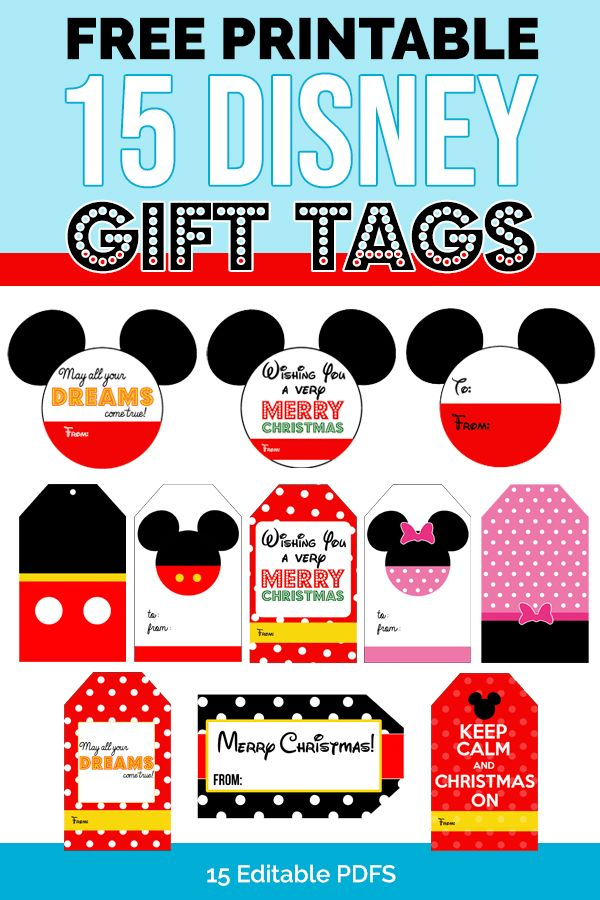 Free 15 Disney Gift Tags Download Personalize 2020 Gift Tags Birthday Disney Gift Birthday Gift Tags