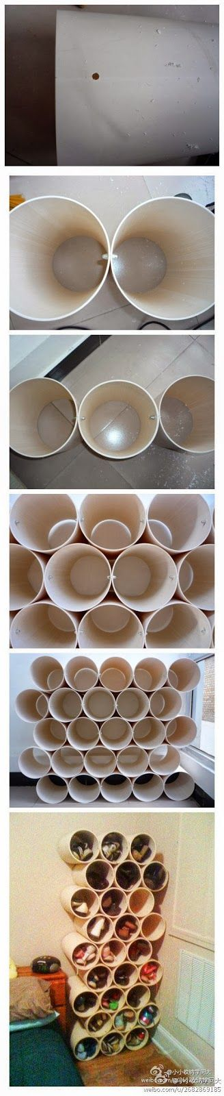 How To Make shoes rack Here is one unusual but simple idea how to make shoes rack on your own. If you have some PVC pipes and you w...