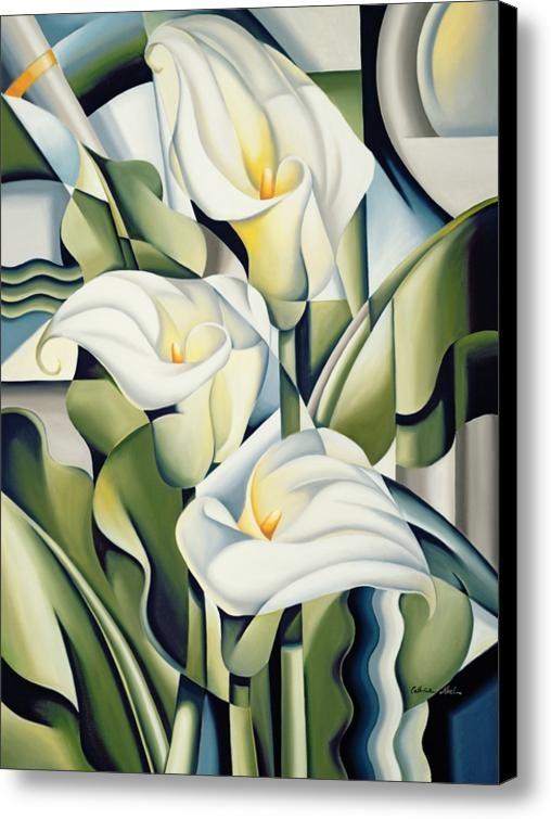 Cubist Lilies Canvas Print / Canvas Art By Catherine Abel