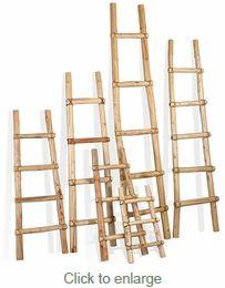 Southwest  Kiva Ladders - Tarahumara Log Ladders // with blankets in the living room