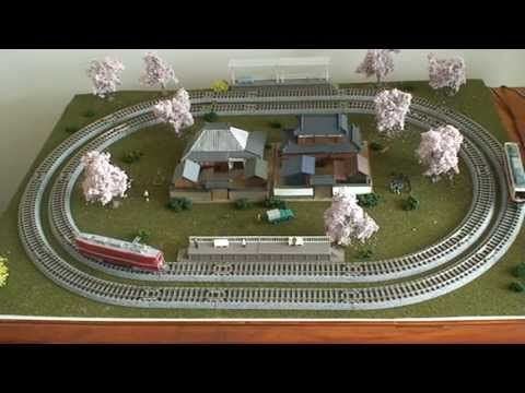 N Scale Japanese Micro Layout - YouTube