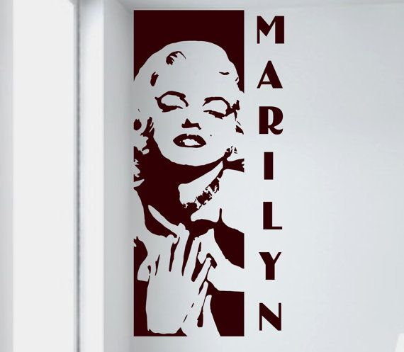 Marilyn Monroe wall decal removable sticker by AriseDecals on Etsy, $11.99