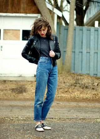 <3 this mix of denim and leather. #stylegallery