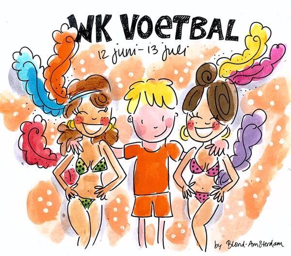 WK voetbal 2014 (12 juni-13 juli) - Blond Amsterdam