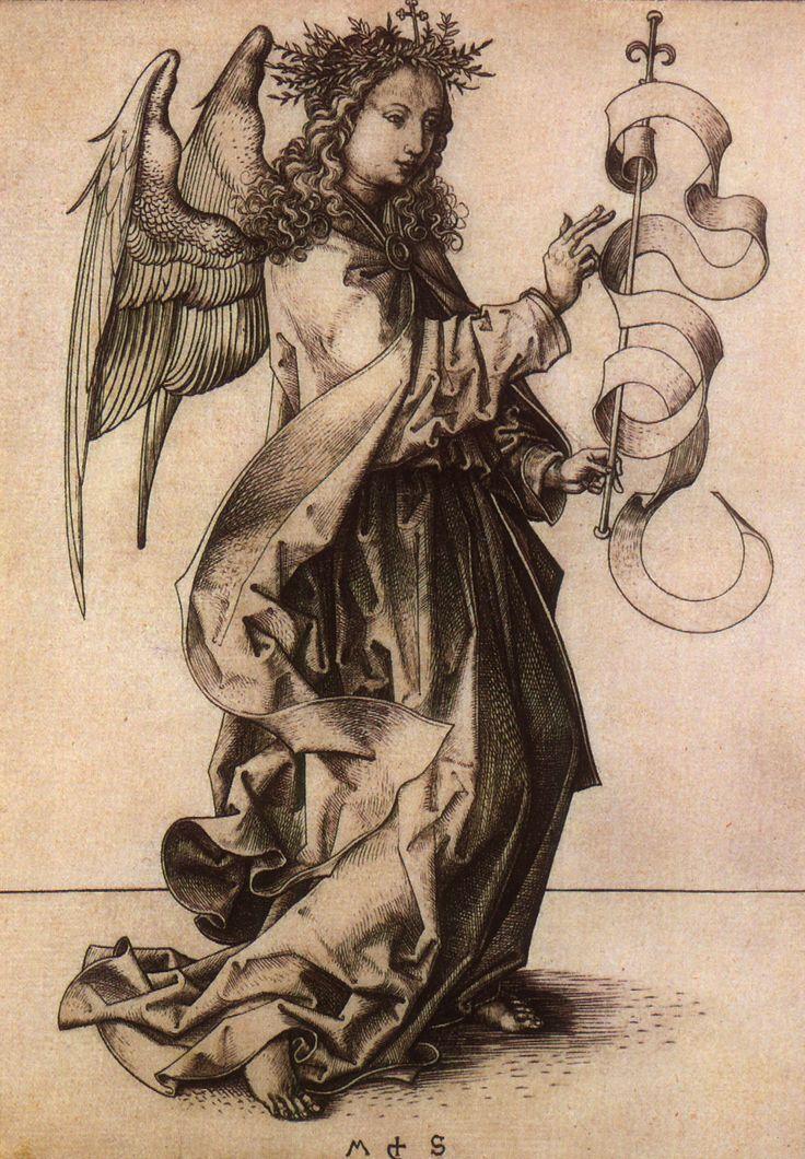 Гравюра картинки ангелы