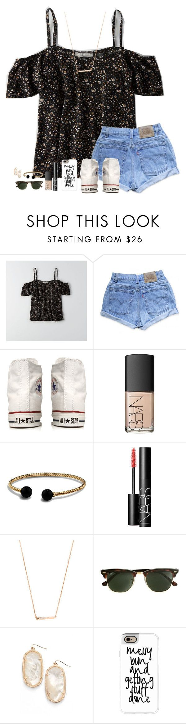 """GUY TROUBLE RTD!!!"" by lindsaygreys ❤ liked on Polyvore featuring American Eagle Outfitters, Levi's, Converse, NARS Cosmetics, David Yurman, Kendra Scott, J.Crew and Casetify"