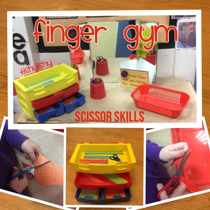 Scissor skills finger gym