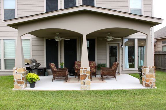 If you were making a carport into a living space this would work nicely.