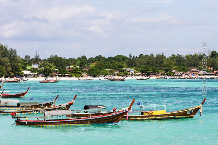 Ko Lipe's Pattaya Beach can get crowded of longtail boats.