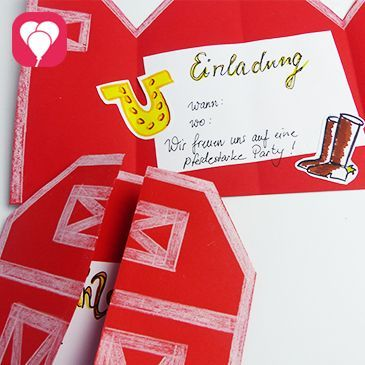 Wir zeigen Dir, wie Du mit einem einfachen Trick aus buntem Papier und einer Schere eine tolle Pferdestall Einladung für den Pferde Geburtstag zauberst!