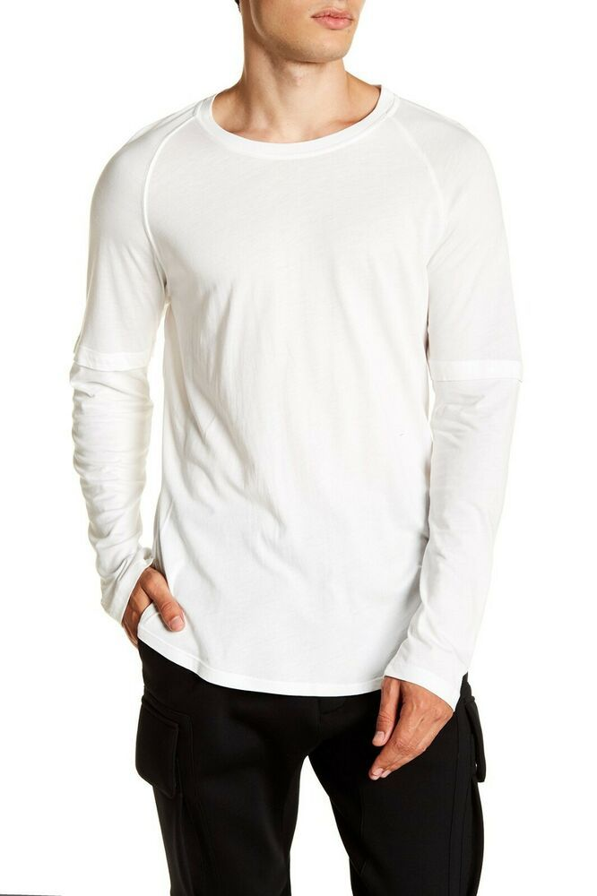 Bnwt Helmut Lang Double Sleeve Noble Tee Size Extra Large Msrp 140 With Images Long Sleeve Tshirt Men Sleeves Helmut Lang