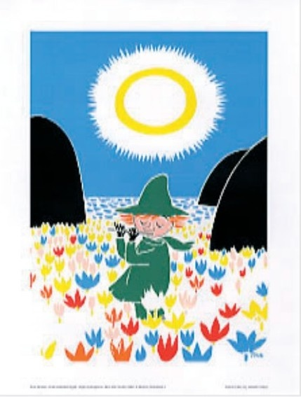 Moomin poster  - Snafkin playing the flute