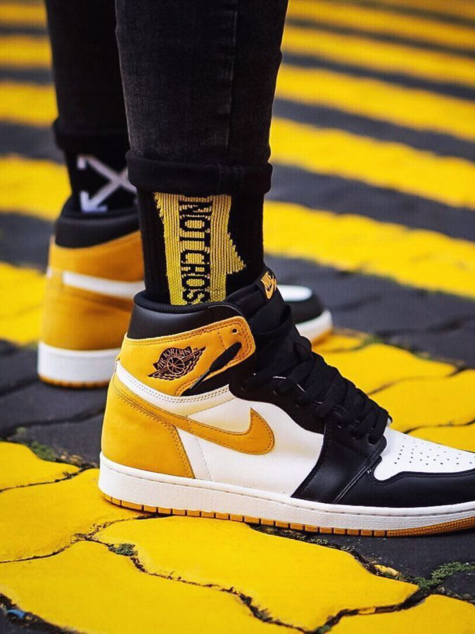 8553a098eaa Nike Air Jordan 1 Best Hand In The Game - Yellow Ochre - 2018 (by spatd0)