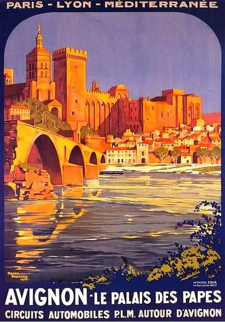 old poster -ad for Avignon by april-mo, via Flickr