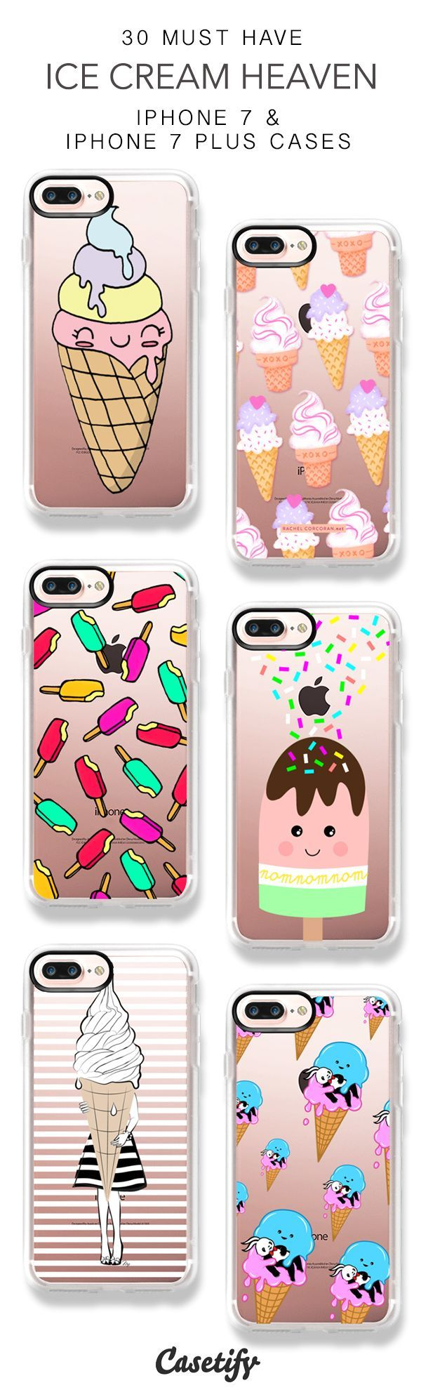 30 Must Have Ice Cream Heaven iPhone 7 Cases and iPhone 7 Plus Cases. More Food iPhone case here > https://www.casetify.com/collections/top_100_designs#/?vc=a3lmwrM49w #iphonead,