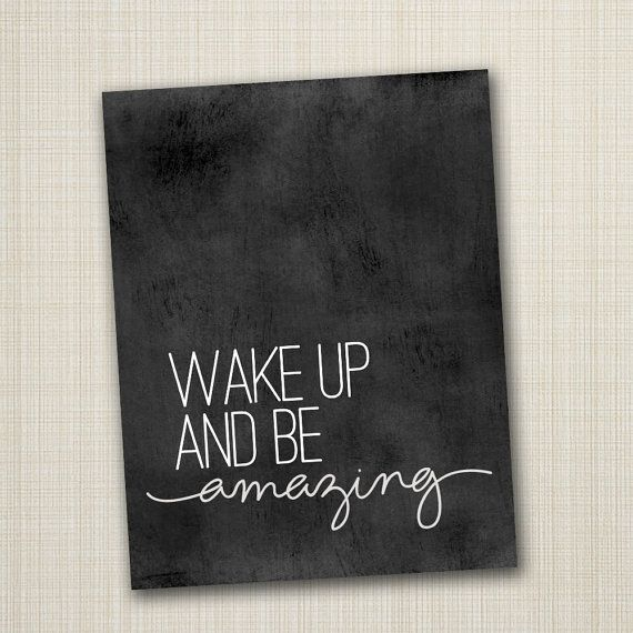 typography poster, quote print, inspirational art, nursery children decor - be amazing 8x10. $12.00, via Etsy.