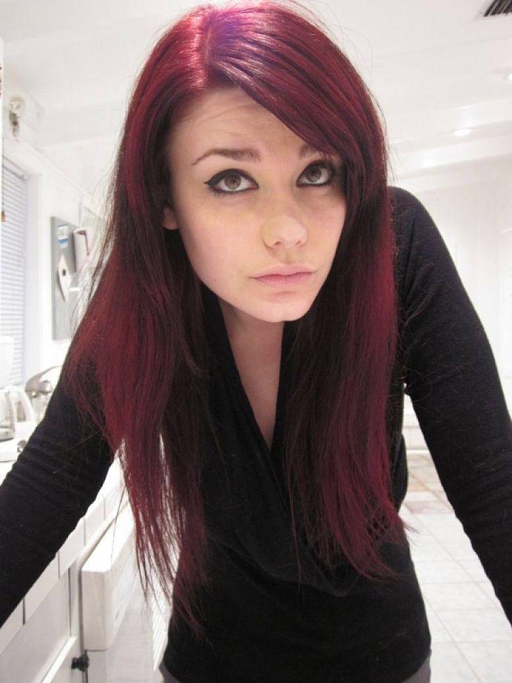 Medium Length Dark Red Hairstyles trend hairstyle now