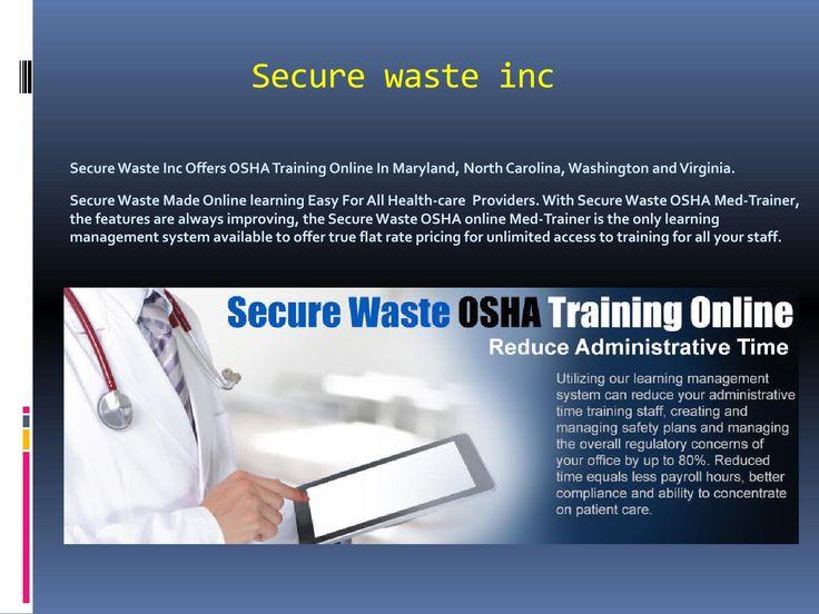 Osha Training Online In Maryland
