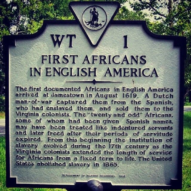"Today in Black History - August 1, 1619 & 1834 The History of Black America under British rule began with landing of twenty Blacks at Jamestown, Virginia. John Rolfe said the ship arrived ""about the..."