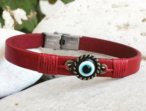 Hey, I found this really awesome Etsy listing at https://www.etsy.com/listing/392768516/women-leather-bracelet-evileye-bracelet
