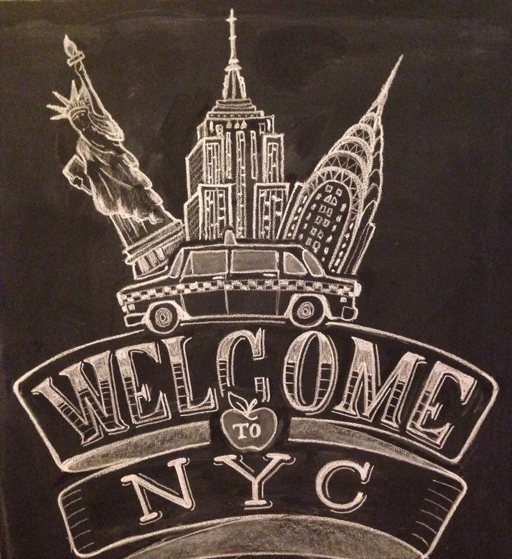 Welcome To New York City Chalk Design By Carolina Ro