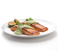 Tandoori-Style Salmon with FAGE Total Avocado Créma  with FAGE Total Greek Yogurt #GotItFree