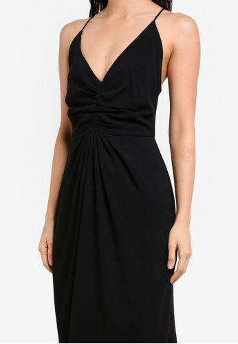Crossback Maxi Dress from Preen & Proper in black_3