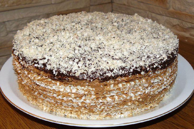 Вафельный торт рецепт сгущеное молоко