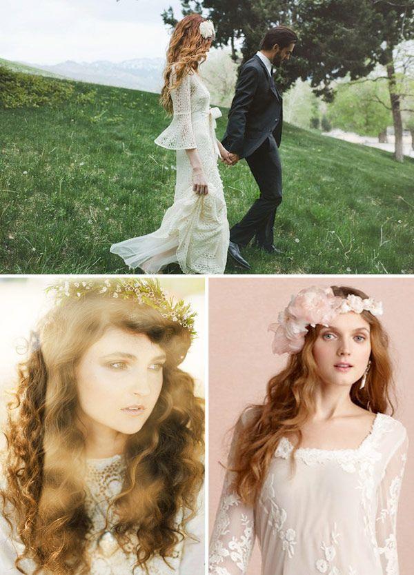Já fizemos diversos posts de penteados para noivas: de coques, de meio-presos, de rabo-de-cavalo, de noivas de cabelo curto, de noivas de franja... faltava